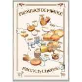 torchon imprime fromages de france 1065