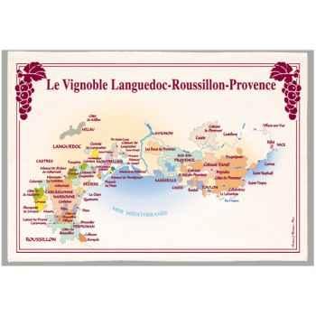Torchon imprimé vignoble Languedoc Roussillon Provence -1107