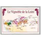 torchon imprime vignoble de la loire 1186