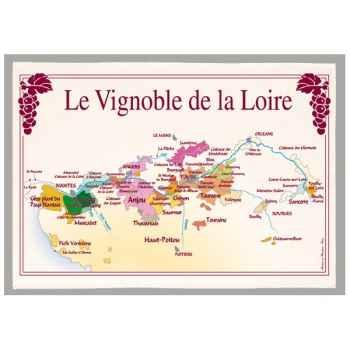 Torchon imprimé vignoble de la Loire -1186