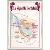 torchon imprime vignoble bordelais 1093