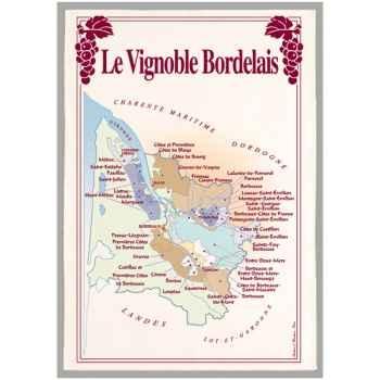 Torchon imprimé vignoble Bordelais -1093