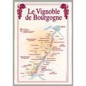 torchon imprime vignoble de bourgogne 1094