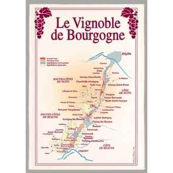 Torchon imprimé vignoble de Bourgogne -1094