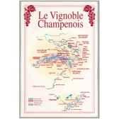 torchon imprime vignoble champenois 1095