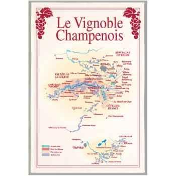 Torchon imprimé vignoble Champenois -1095