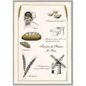 torchon imprime le pain 1236