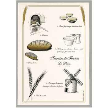 Torchon imprimé le pain -1236