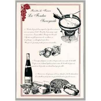 Torchon imprimé la fondue Savoyarde -1239