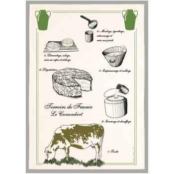 Torchon imprimé le camembert -1235