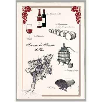 Torchon imprimé le vin -1234