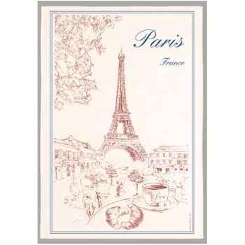 Torchon imprimé Paris -1039