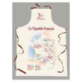 tablier sommelier etiquette vignoble francais 2228