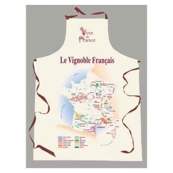 Tablier sommelier étiquette vignoble Français -2228