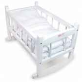 lit bercelonette 40 cm laque garnissage blanc petitcollin 800188