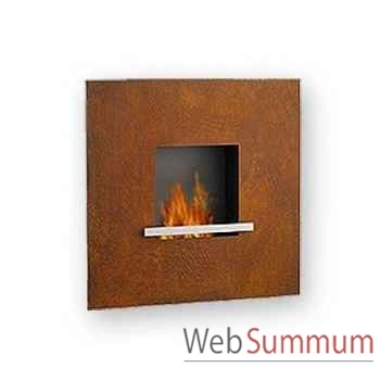 Cheminée fire & flame en acier corten Artepuro -21.103-00