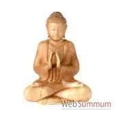 bouddha deux mains 30 cm bali bgha30