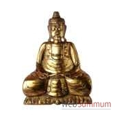 bouddha assis finition doree 50 cm bali bsch50g
