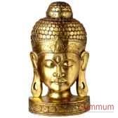 masque de bouddha finition doree 50 cm bali masb50g