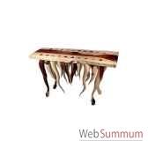 table en bois bali tisch