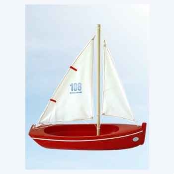 Barque en bois rouge plate 32 cm Tirot
