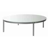 table basse ronde blanche emform se 0533