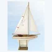 voilier en bois quille carree blanc 40 cm couleur unique tirot