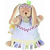 marionnette etiquette lapin doudou et compagnie dc2350