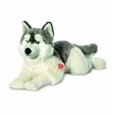 peluche chien husky couche 60 cm hermann 92782 2