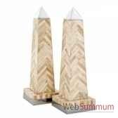 set de 2 obelisques eichholtz acc07956