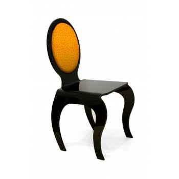 Chaise opera dossier textile autruche orange modèle personnalisable Acrila -Acrila163