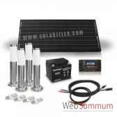 kit solaire 100w 4 bornes et 4 ampoules 4w solariflex wun 0016