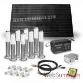 kit solaire 200w 8 bornes et 8 ampoules 4w solariflex wun 0018