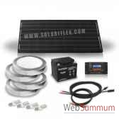 kit solaire 100w 4 appliques et 4 ampoules 4w solariflex wun 0017
