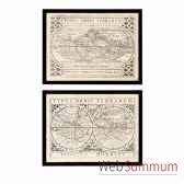 cadre ec201 vintage maps s 2 eichholtz 06907