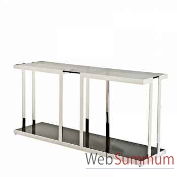 Eichholtz table basse magnum acier inoxydable avec placage