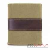 baron portefeuille 3 cartes toile cuir 4202 02