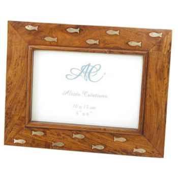 Cadre photo bois-laiton Produits marins Web Summum -web0231