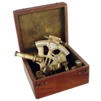 Sextant avec coffret bois Produits marins Web Summum -web0167