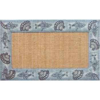 Tapis jute bordure coton Produits marins Web Summum -web0255