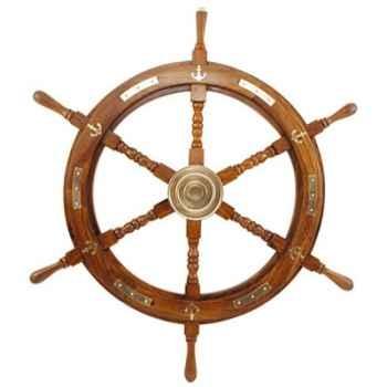Barre à roue décor laiton  Produits marins Web Summum -web0111