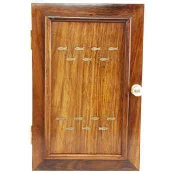 Boîte à clés bois-laiton Produits marins Web Summum -web0228