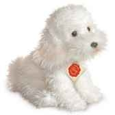caniche blanc assis hermann 92785 3