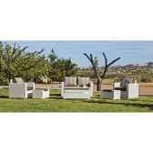 ensemble salon de jardin tuscan 9 coussin raye beige 1 canape 2p2 fauteuils 1 table basse 2 poufs exklusive hevea 101