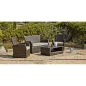 ensemble salon de jardin alpes ecru 1 canape 2p2 fauteuils 1 table basse coussins ecru exklusive hevea 10141 3663141