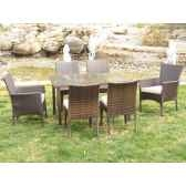 ensemble table 6 places tamaru coussin beige exklusive hevea 10142 8430424