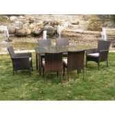 ensemble table 6 places tamaru coussin raye beige exklusive hevea 10143 3663141