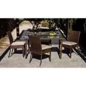 ensemble table 4 places marzia coussin raye beige exklusive hevea 10145 3663141