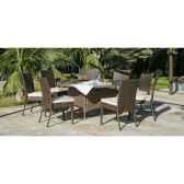 ensemble tatiana 150 1 table tatiana 150 8 chaises marzia coussin ecru exklusive hevea 11302 3663141