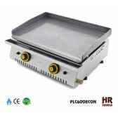 plancha chassis inox gaz 105kw 2 bruleurs plaque 60x40 acier poli montee en butane propane lot de 12 fainca 10206 3663